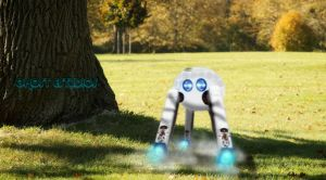 Little robot in the park by Ghostestudios