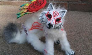 Shiranui Wolf Doll closeup by stephanie1600