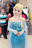 Azeleia as Elsa from the disney movie FROZEN by azeleia