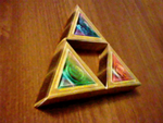 Triforce Papercraft by Karite-Kita-Neko