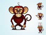 Monkey Mascot free psd and png by pixtea