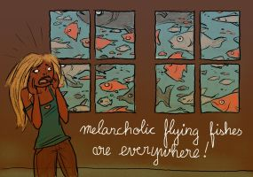 Melancholic Fishes by The-Mirrorball-Man