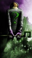 Riddler Arkam City Phone wallpaper by AStein35