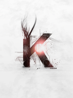 K Font Typography Text Effect by shiraachan