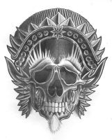 mexican style skull by zok4life