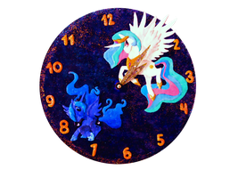 Celestia and Luna Clock by the2ndO