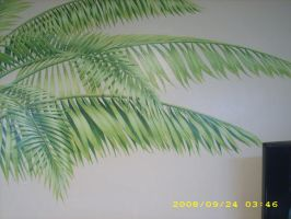 Detail of palm mural by MuralsbyLeBold