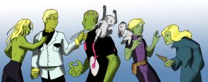 Brainiac Family Color by bluepard2