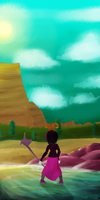Background Practice by SquiddleySquid
