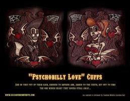 Psychobilly Love Cuffs by ElVaqueroMuerto