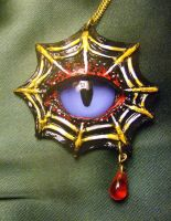 Spider Eye Pendant by mistyscreations