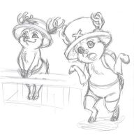 OP-Disney: Chopper sketches by persephohi