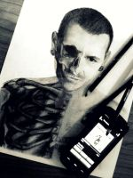 Chester Bennington WIP by CirclePITT