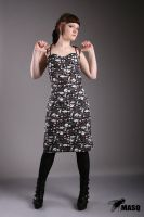 Skull halter dress by masque242