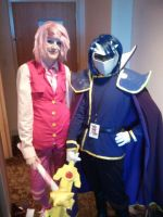 Kirby and Meta Knight cosplay! by Payaka