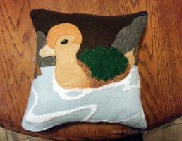 Turtleduck Pillow by LnknPrk7Snoopy