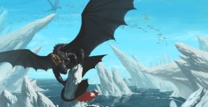 Hiccup and Toothless by Unn89