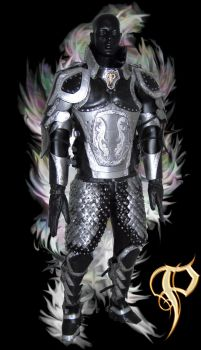 Black and Silver Leather Armor by Azmal