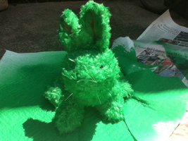 Flying Mint Bunny WIP 2 of 3 by KnucklestheEchidna25