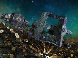 Invasion by giant teleporters on Babylon by syrius6
