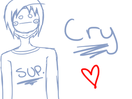 Cry Sketch by mikicharacharm