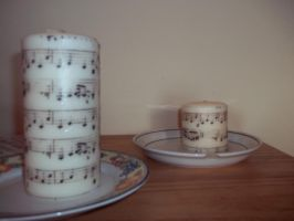 Sheet Music Candles by rainbowzprinklez2017
