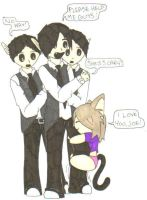 Lil Miss MeowMeow Jonas Bros by Vampenxwitch