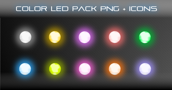 Color LED Pack PNG + ICONS by coolerpvr