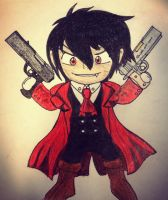 Chibi Alucard by D4RKPR1NCE-86