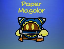 Paper Magolor by The-Super-Brawl-Girl