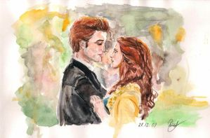 Edward and Bella. Twilight by Damoritat