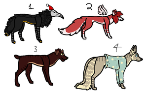 More Random Dog Designs - CLOSED by PearlEvil