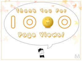 Thank you for 1000 Page Views by meki22