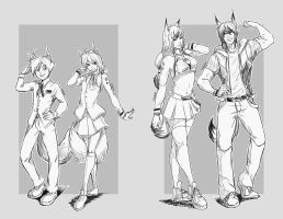 Shinya Twins: Grown Up by Gintijd