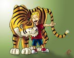Calvin and Hobbes: My Style by TyrannRex