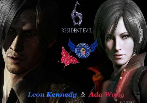Leon Kennedy and Ada Wong by Leon-Jill-lover