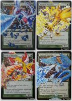 Set of Birds of Paradise, Pokemon Fan Art by Toriy-Alters