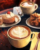 In the Mood for Coffee by skian-winterfyre
