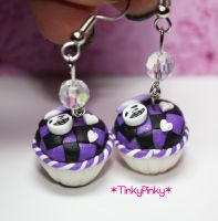 cupcakes checkers earrings by tinkypinky
