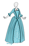 18th Century Dress Adoptable SOLD by Captain-Savvy