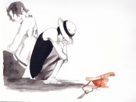 Luffy and Ace: But You promised.... by FrostyNightSky