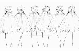 Vintage Dresses - Sketches by tunderlany