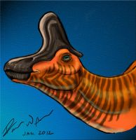 Lambeosaurus lambei Speed Painting by raven-amos