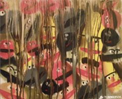 muppet abstract drip painting by TOMMERVIK