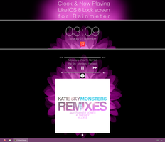 iOS 8 Lock Screen - Rainmeter Skin by Nyan-PTX