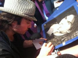 Ian Signing by Paranoid-Universe