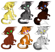 Kitty Adoptables 2 by icrystalline