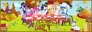 Equestria Daily Thanksgiving banner by Korsoo