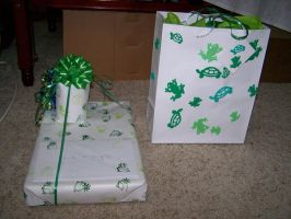 Personalized Gift Wrap and Bag by Thora-T