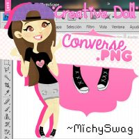 {Converse Creative Doll png} by MichySwag